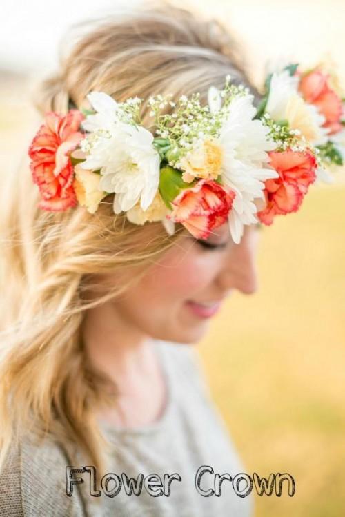 Fabulous DIY Bridal Flower Crown To Rock This Summer