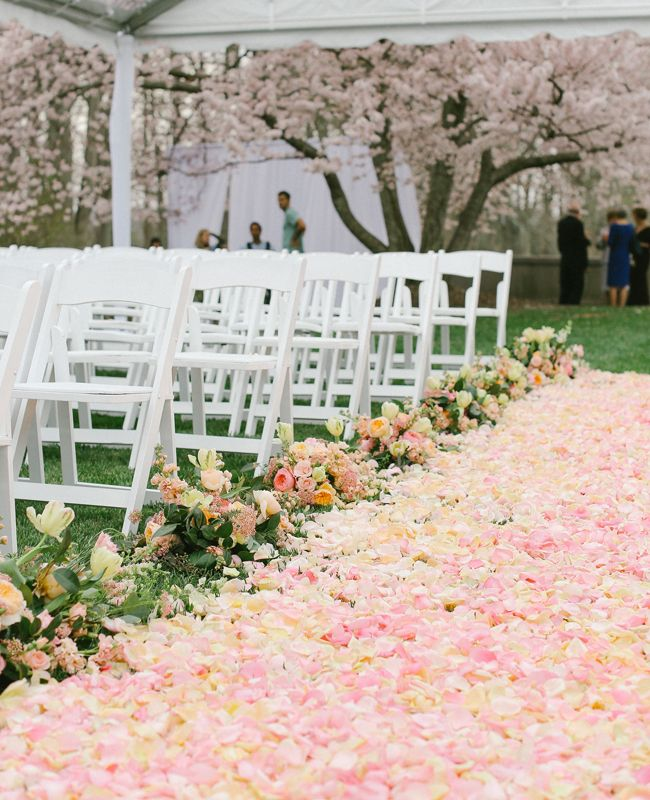 Picture Of fabulous spring wedding aisle decor ideas  1