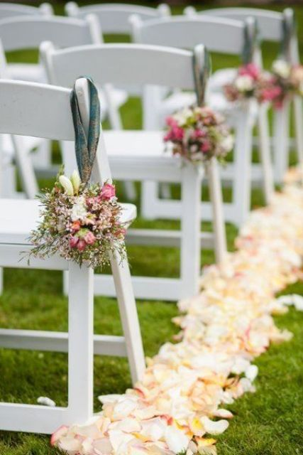 Picture of fabulous spring wedding aisle decor ideas 13 for Aisle wedding decoration ideas