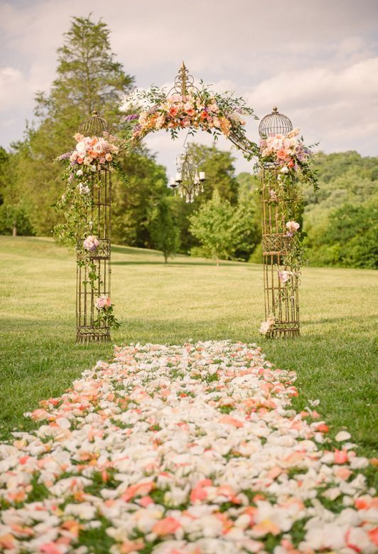 Picture Of fabulous spring wedding aisle decor ideas  2