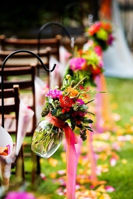Picture Of fabulous spring wedding aisle decor ideas  4