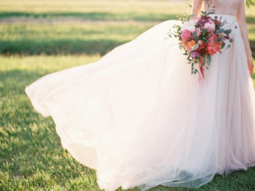 Fanciful Outdoor Wedding Inspiration In Ladylike Pink Hues