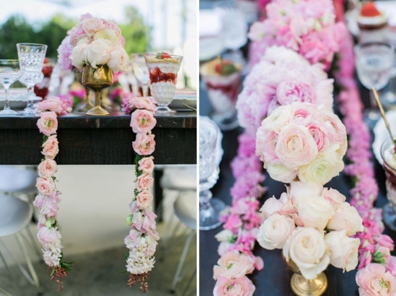 ddfa6e95656 Picture Of Feminine And Chic Pink Ombre Bridal Shower Inspiration