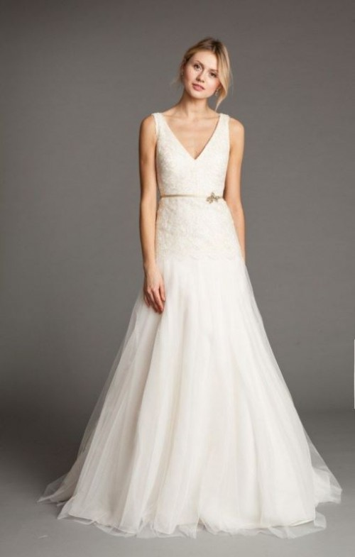 Feminine And Enchanting V Neck Wedding Dresses