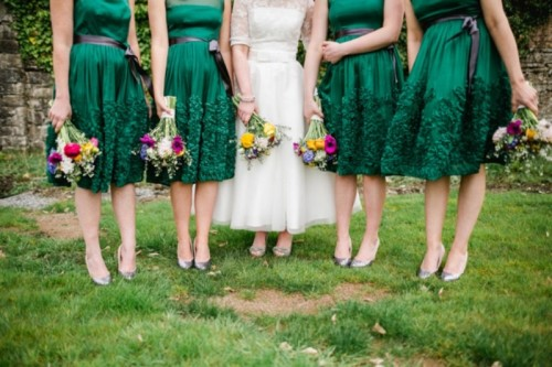 Flirty And Fun 50s Themed Wedding In Emerald Green