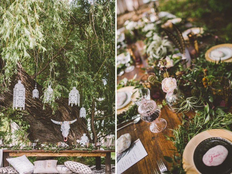 Picture Of free spirited bohemian lakeside bridal shower  10