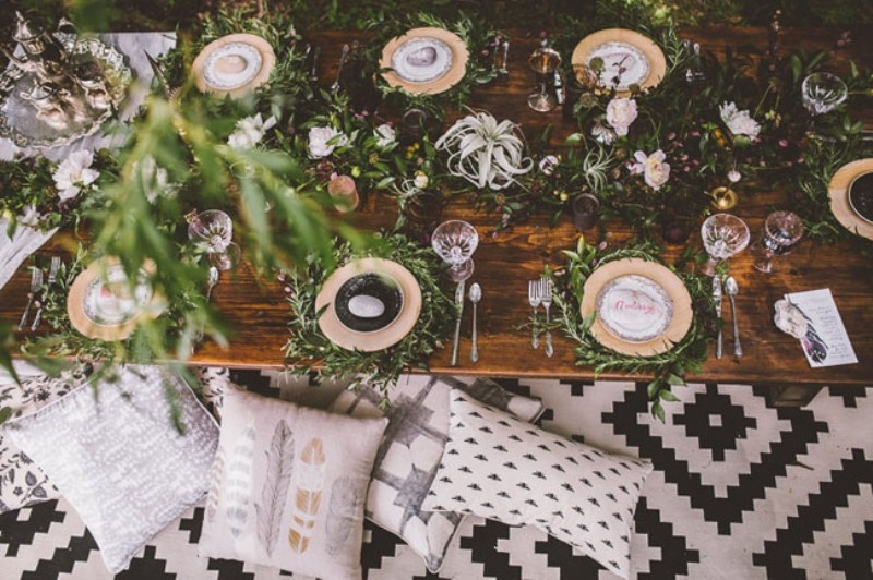 Picture Of free spirited bohemian lakeside bridal shower  12