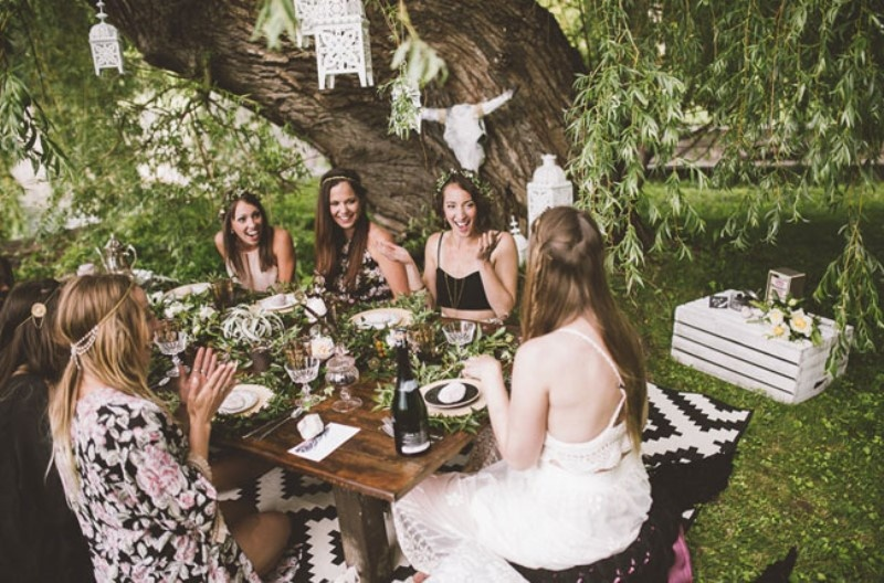 Picture Of free spirited bohemian lakeside bridal shower  13