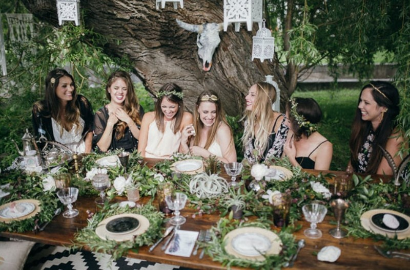 Picture Of free spirited bohemian lakeside bridal shower  14