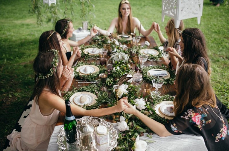 Picture Of free spirited bohemian lakeside bridal shower  15