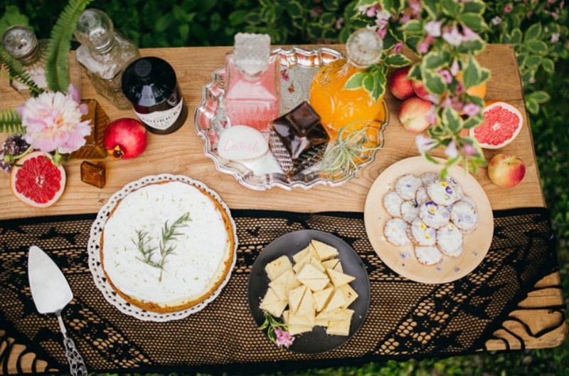 Picture Of free spirited bohemian lakeside bridal shower  16