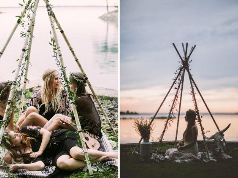 Picture Of free spirited bohemian lakeside bridal shower  18
