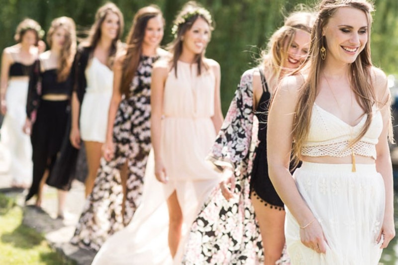 Picture Of free spirited bohemian lakeside bridal shower  3