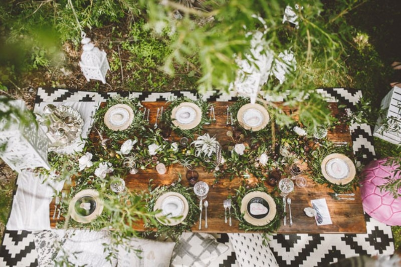 Picture Of free spirited bohemian lakeside bridal shower  6