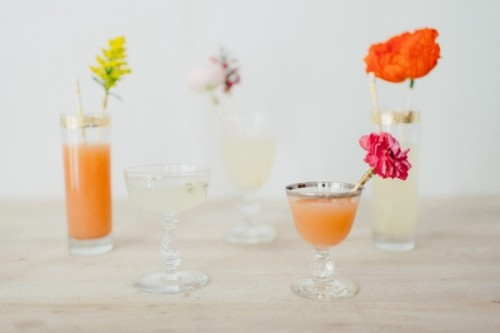 Fresh And Pretty Diy Flower Drink Stirer
