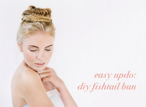 Fresh And Stylish DIY Fishtail Bun Wedding Hairstyle