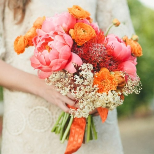 35 Fresh And Whimsy Pincushion Protea Wedding Bouquets