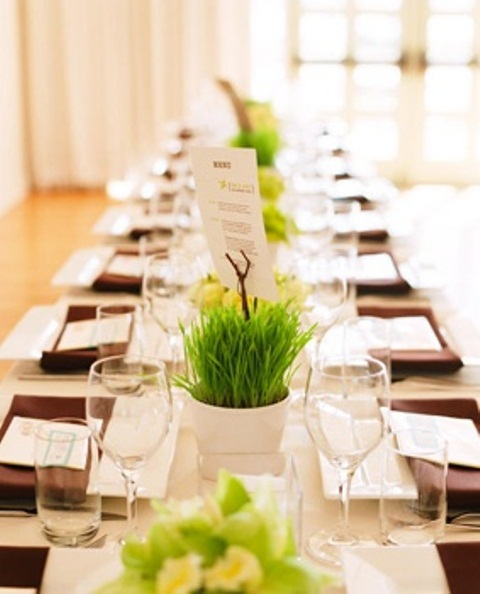 Fresh spring wedding table décor ideas weddingomania