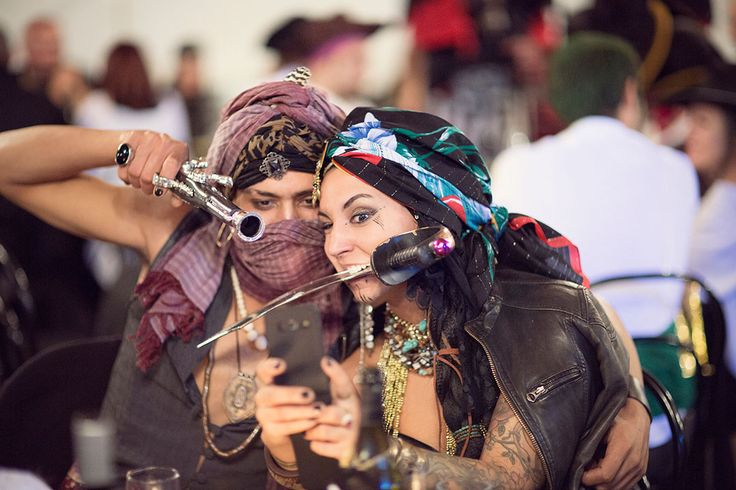 Picture Of fun and creative pirate wedding in italy  14