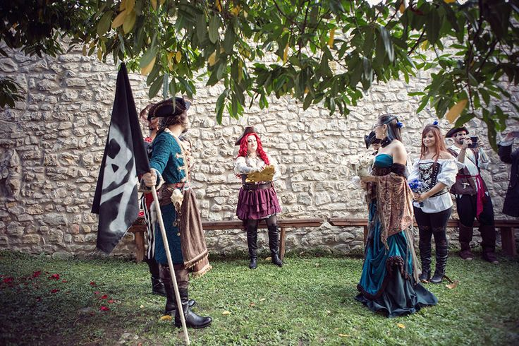 Picture Of fun and creative pirate wedding in italy  9