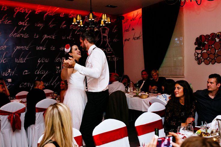 Picture Of fun pin up polka dot wedding in croatia  11