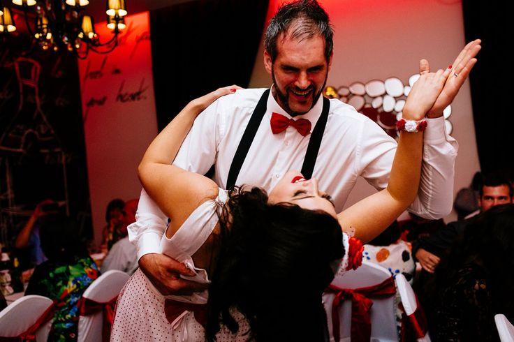 Picture Of fun pin up polka dot wedding in croatia  12