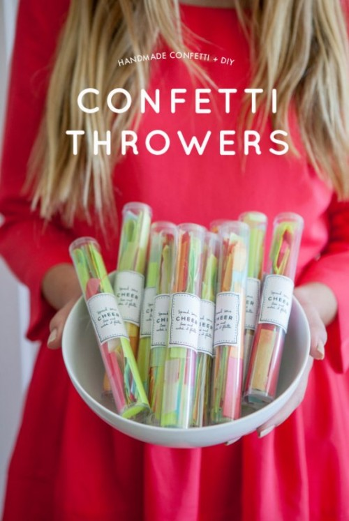 Funny DIY Confetti Throwers For Your Wedding