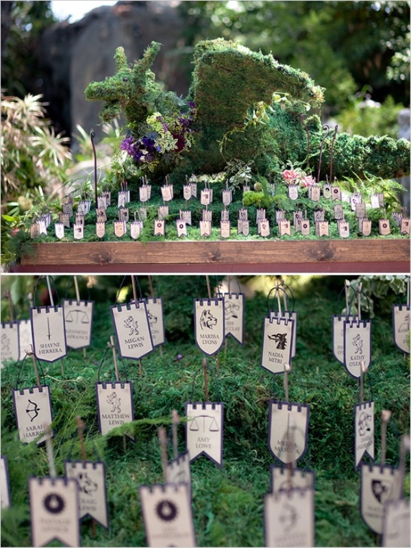 Picture of game of thrones themed wedding for Game of thrones garden ornaments