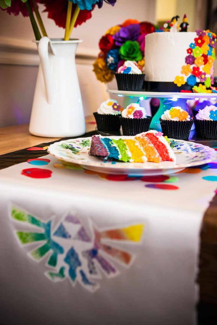 Picture Of geeky rainbow punk rock tea party wedding  14
