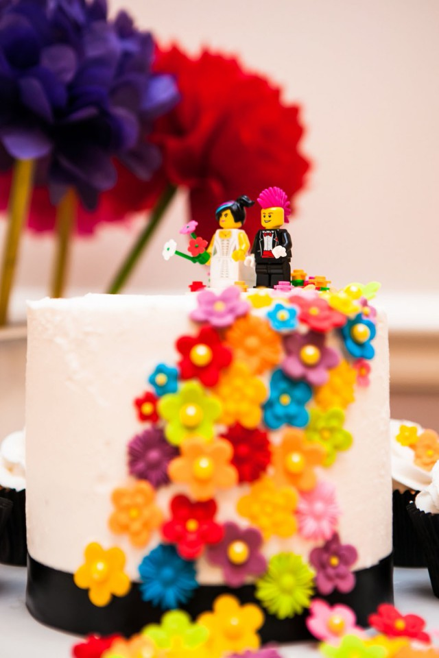 Picture Of geeky rainbow punk rock tea party wedding  6