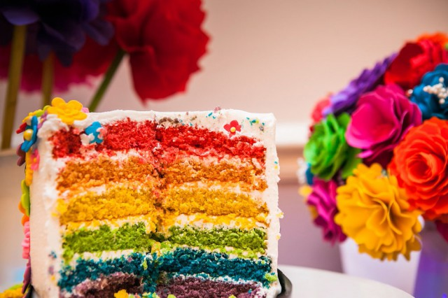 Picture Of geeky rainbow punk rock tea party wedding  9