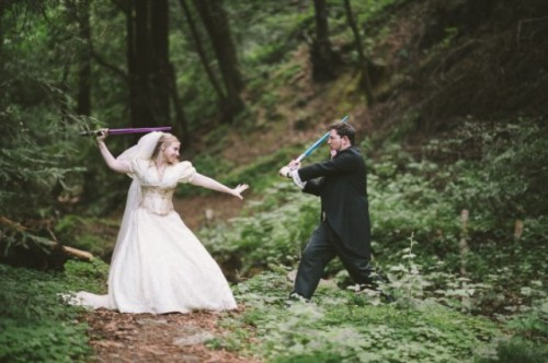 Charming Geeky Renaissance Fair Wedding With Star Wars Touches