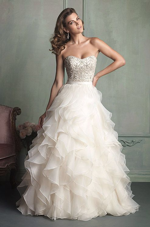 Picture Of Girlish Ruffled Wedding Dresses