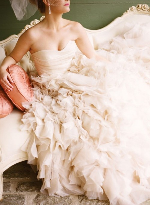 The Hottest 2014 Trend: 33 Ruffled Wedding Dresses