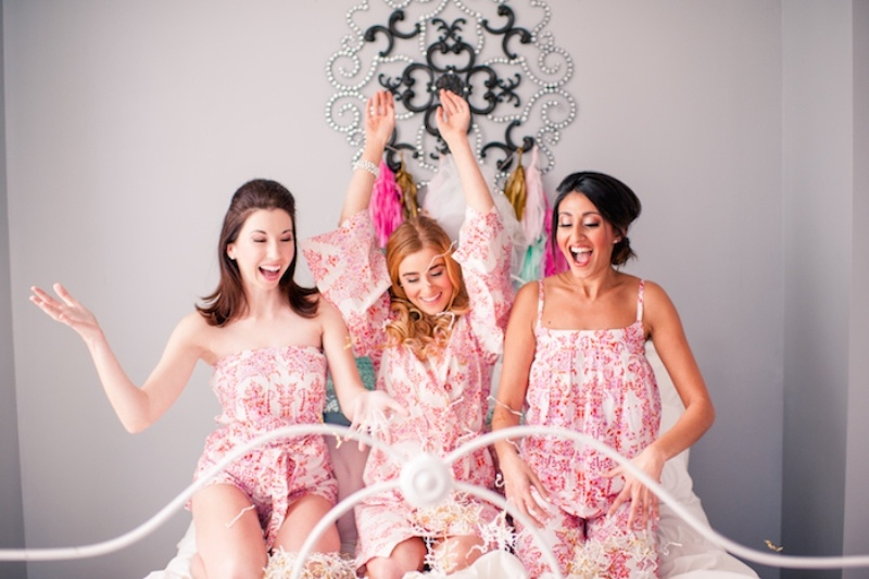 Picture Of girly and cheerful will you be my bridesmaid slumber party  12