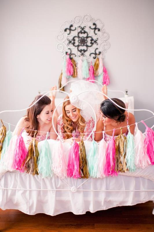 Picture Of girly and cheerful will you be my bridesmaid slumber party  13