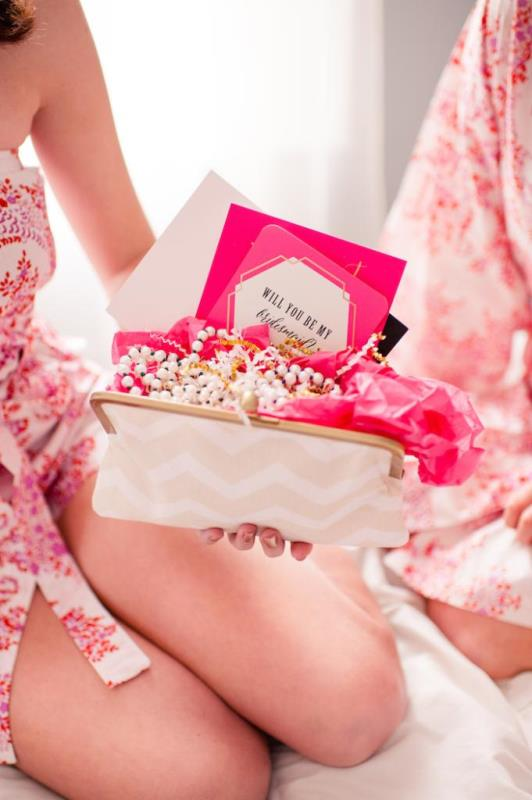 Picture Of girly and cheerful will you be my bridesmaid slumber party  15