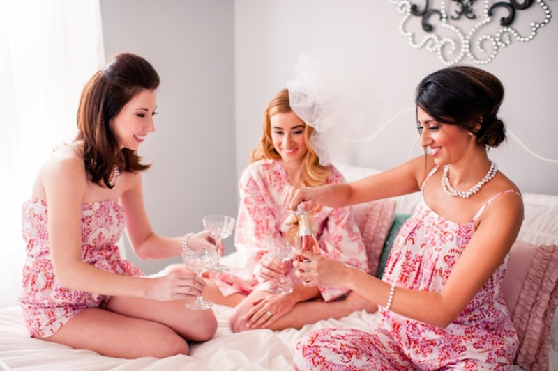 Picture Of girly and cheerful will you be my bridesmaid slumber party  16