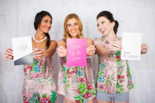Girly And Cheerful 'Will You Be My Bridesmaid?' Slumber Party