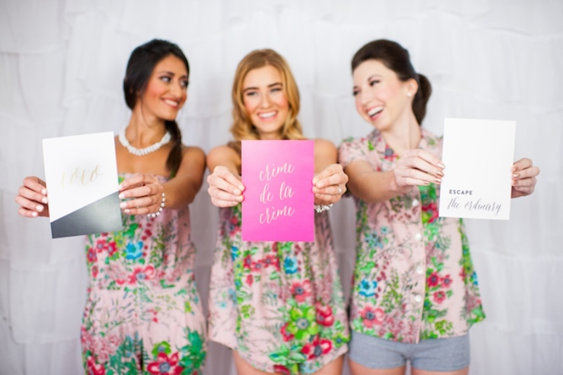 Picture Of girly and cheerful will you be my bridesmaid slumber party  21
