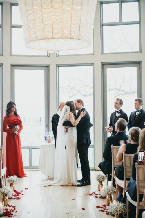 Glam And Elegant Gold And Red Nyc Wedding