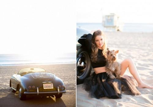 Glam Malibu Beach Engagement Session