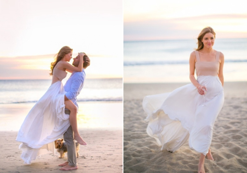 Glam Malibu Beach Engagement Session