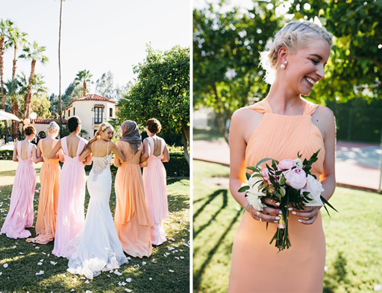 Picture Of glamorous and vivid pink palm springs wedding  10