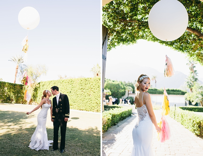 Picture Of glamorous and vivid pink palm springs wedding  12