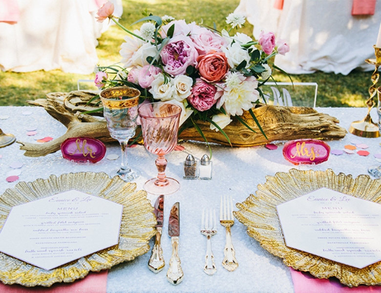 Picture Of glamorous and vivid pink palm springs wedding  18
