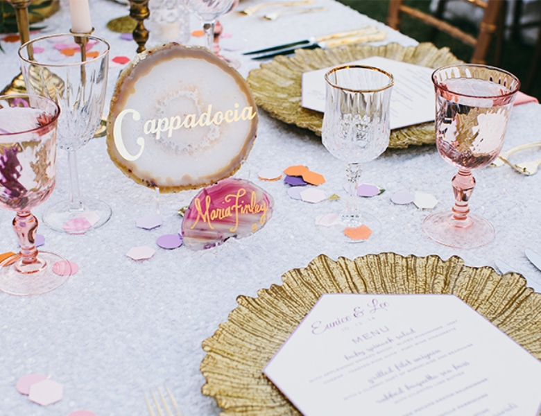 Picture Of glamorous and vivid pink palm springs wedding  19