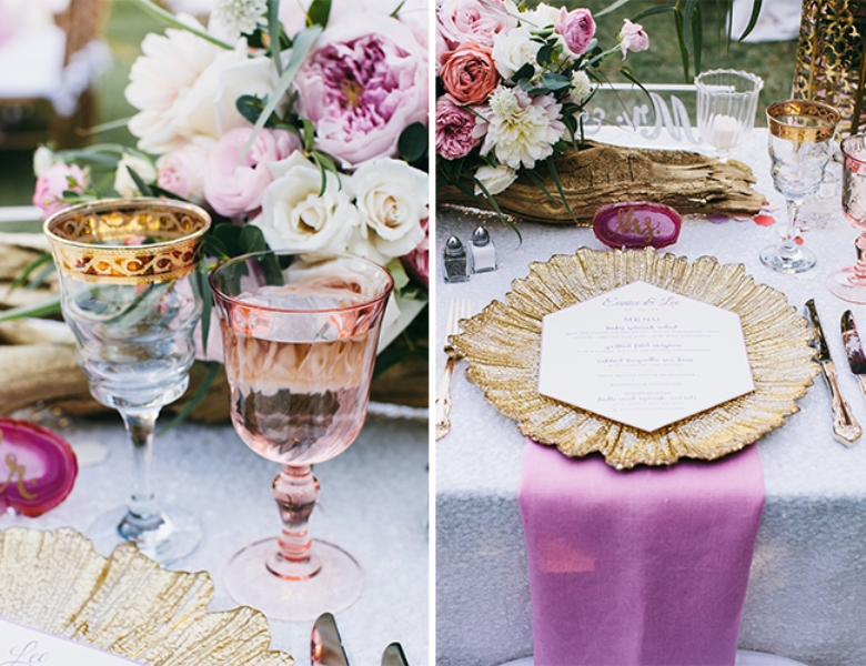 Picture Of glamorous and vivid pink palm springs wedding  21