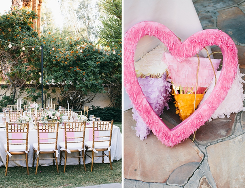 Picture Of glamorous and vivid pink palm springs wedding  23