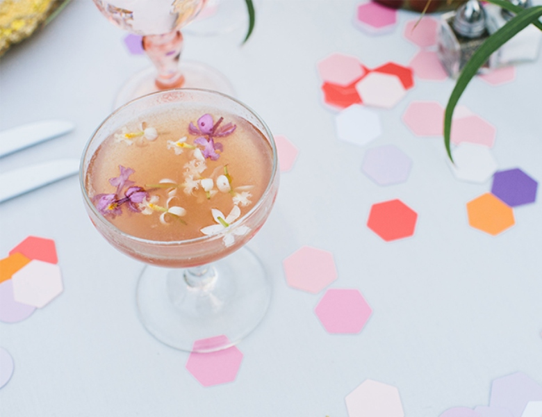 Picture Of glamorous and vivid pink palm springs wedding  24